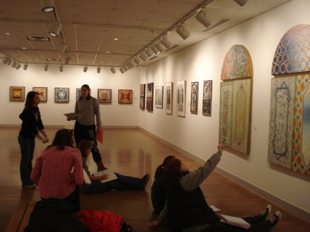Image of Debra Hydorn's students at Joe DiBella art show